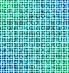 Green blue pixel mosaic background vector