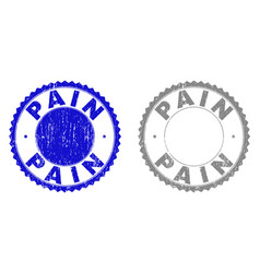 Grunge pain scratched stamp seals vector