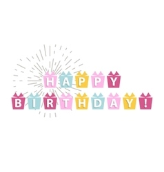Happy birthday card isolated vector image vector image