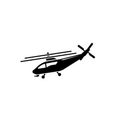 helicopter fly transport aviation flat icon vector image