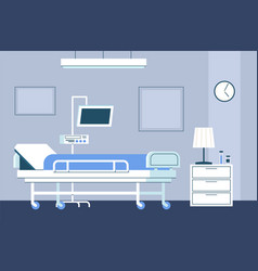Hospital room interior modern intensive therapy vector