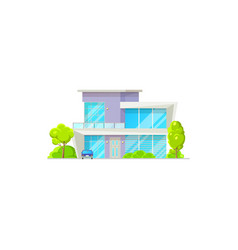 house building isolated patio facade exterior vector image
