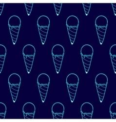 Ice Cream Easy Pattern Linear-31 vector