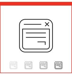 Icon of app windows vector