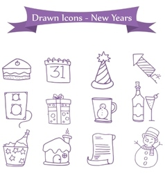 Icon of New Year and Merry Christmas element vector image