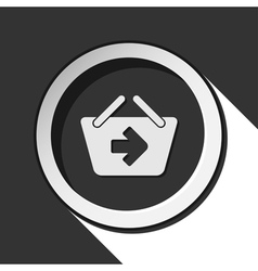 Icon - shopping basket next with shadow vector