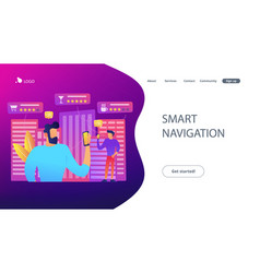 intelligent services in smart city concept vector image