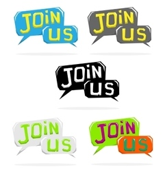 Join us speech cloud vector
