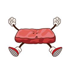 kawaii slice salmon japanese food image vector image