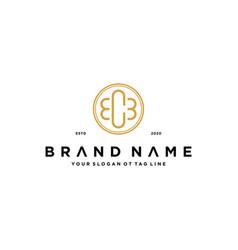 Letter ecb logo design concept vector