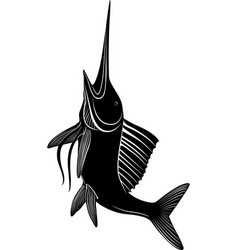 marlin fish vector image