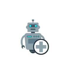 Medical robot logo icon design vector