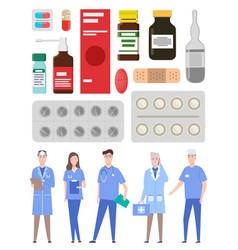 Medical staff doctors medics physician vector