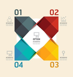Modern infographic banner geometric with line icon vector image
