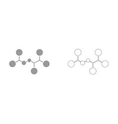 molecule it is icon vector image