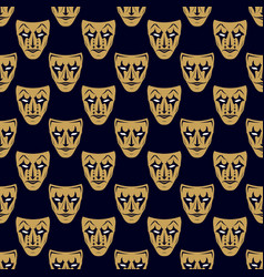 new pattern 0209 theatrical mask vector image