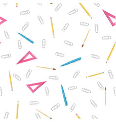 Office supplies pattern vector