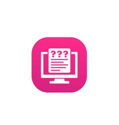online survey questionnaire icon vector image