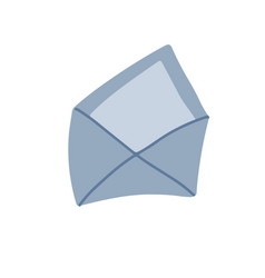 open envelope flat hand drawn icon simple vector image
