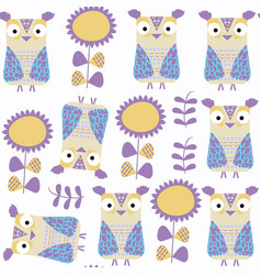 owls abstract nature seamless pattern it is vector image