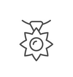 pendant line icon vector image
