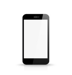 phone with blank white screen front view vector image