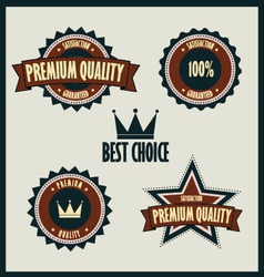 Premium quality labels best choice vector