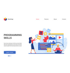 Programmer training course vector