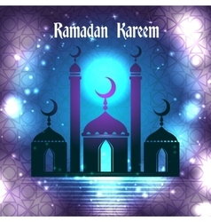 Ramadan Kareem background with islamic ornament vector image