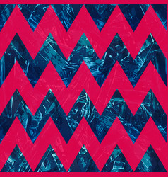 retro blue color zigzag seamless pattern vector image