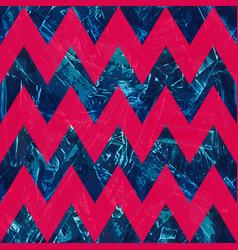 Retro blue color zigzag seamless pattern vector