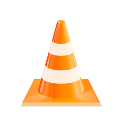 road cones vector image
