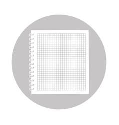 round icon notebook cartoon vector image