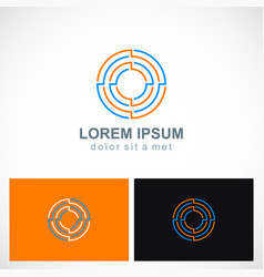 round maze target business logo vector image vector image