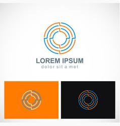 Round maze target business logo vector