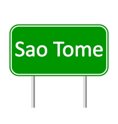 Sao Tome road sign vector