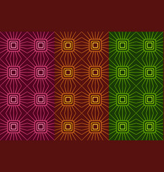 Seamless pattern with dark squares and lines vector