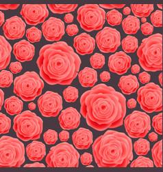 seamless vintage pink rose pattern raster vector image