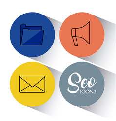 Seo search engine optimisation and marketing icon vector