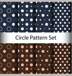 set circle seamless pattern background vector image