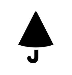 Simple umbrella icon design umbrella silhouette vector