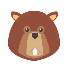 Single beaver icon vector