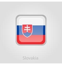 Slovakia flag button vector