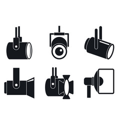 Spotlight icons set simple style vector