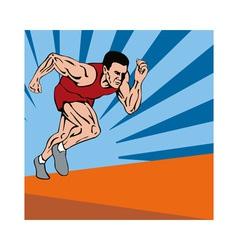 Sprinter Running vector