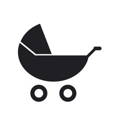 stroller icon vector image