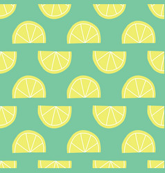 stylized lemon slices seamless pattern vector image