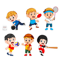 team sports for kids vector image