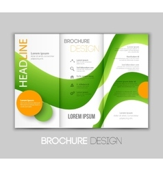 Template leaflet design with vector