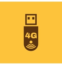 The 4g adapter icon Transfer and connection data vector image